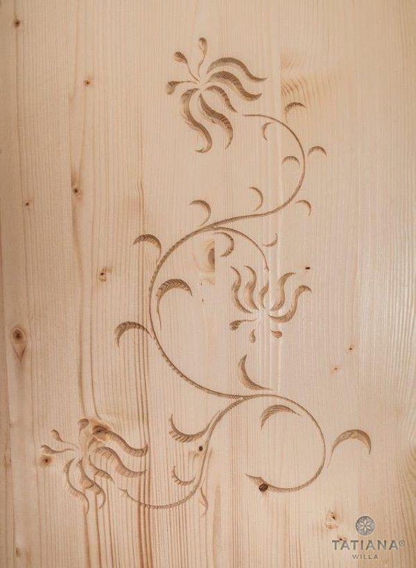 Willa Tatiana boutique rzeźba w drewnie