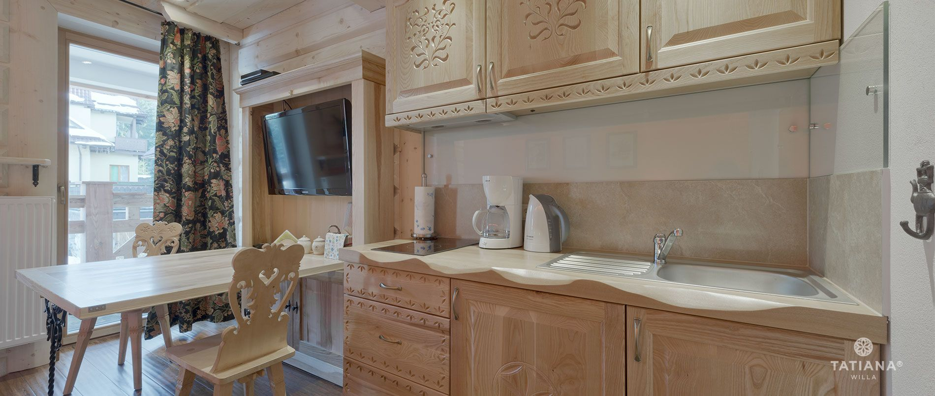 Apartament Lux10- aneks kuchenny