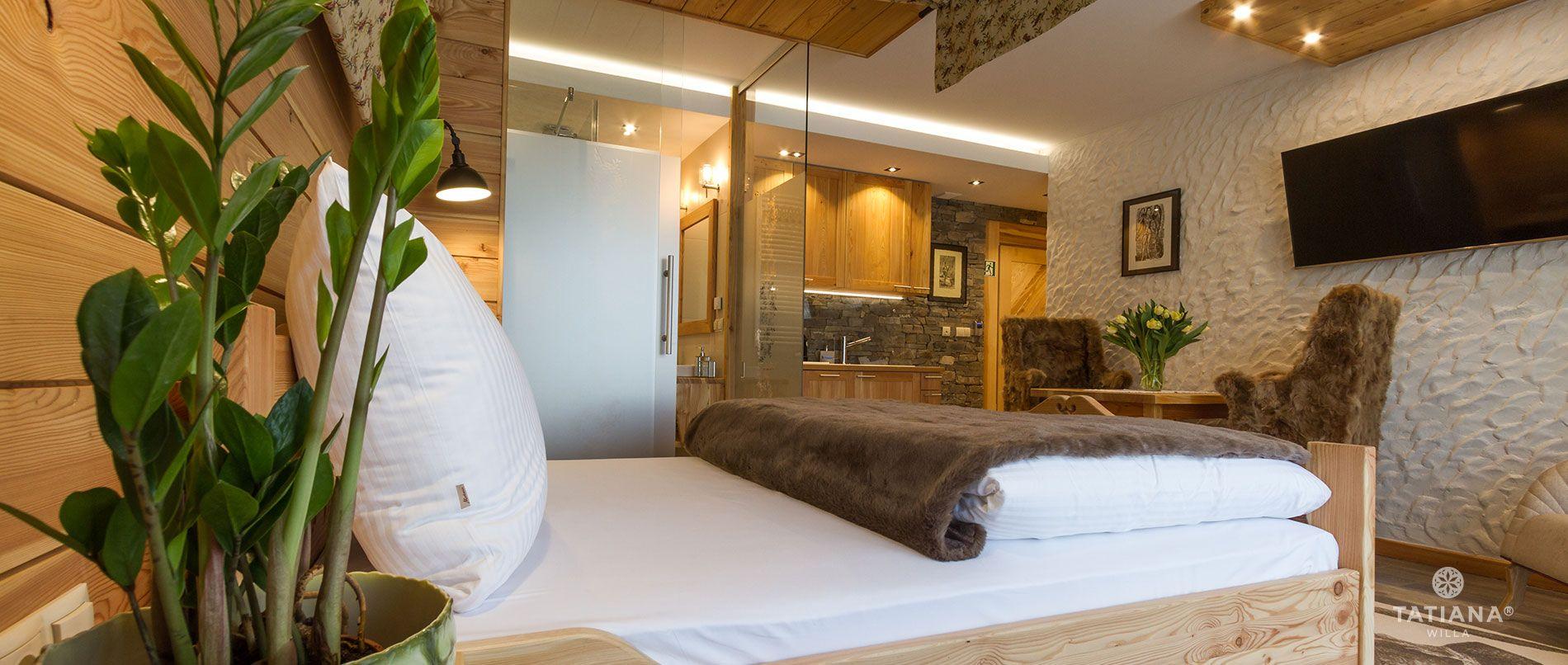 Apartament Modrzewiowy - sypialnia