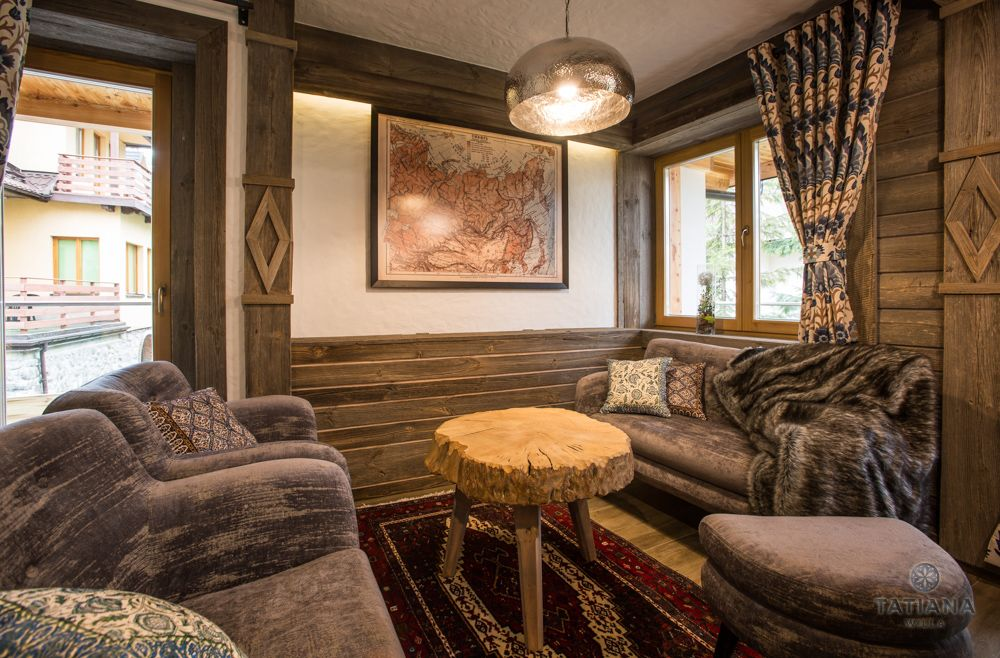 Apartament Syberyjski Willa Tatiana folk drewniany pokój