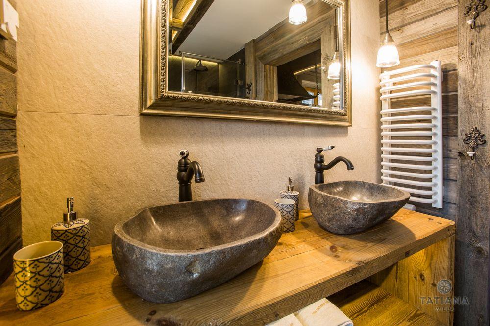 Apartament Syberyjski Willa Tatiana folk kamienne umywalki