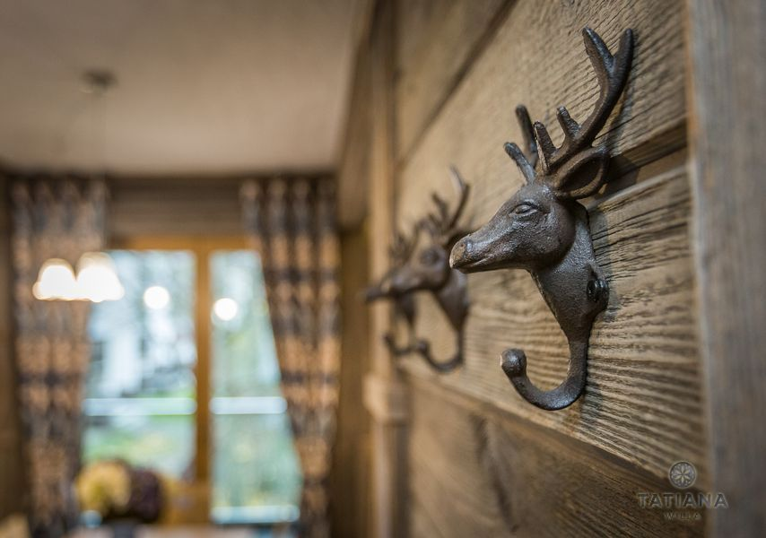 Apartamenty Zakopane Willa Tatiana folk wieszak w kształcie jelenia