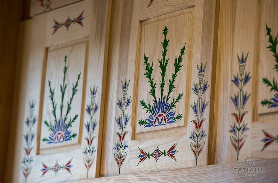 Apartamenty Zakopane Willa Tatiana folk malowidła na drewnie