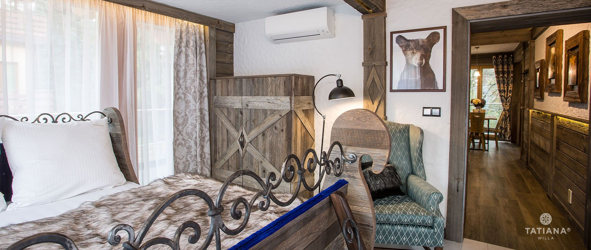 Apartament Syberyjski - sypialnia
