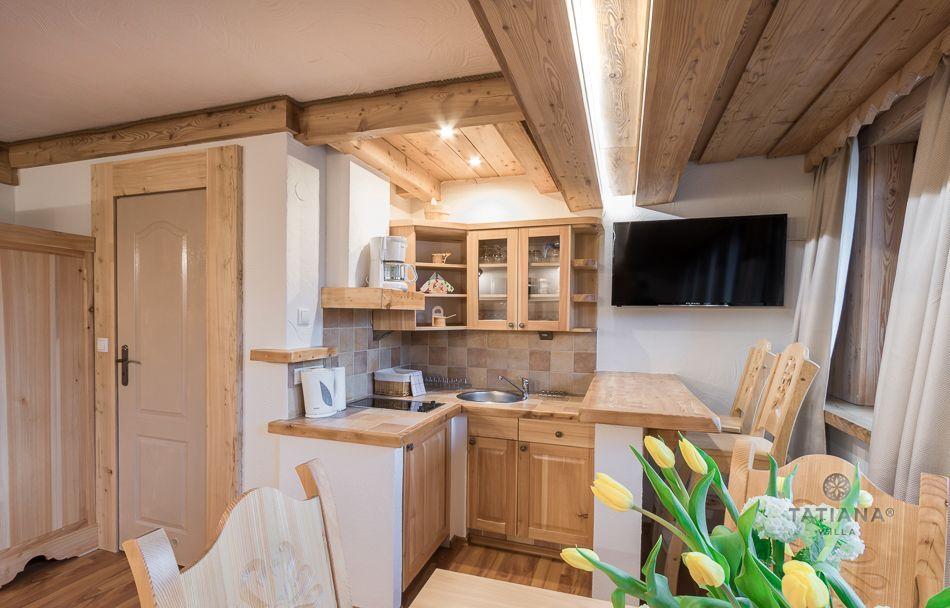 Apartament 2 Tatiana Premium Zakopane drewniany aneks kuchenny