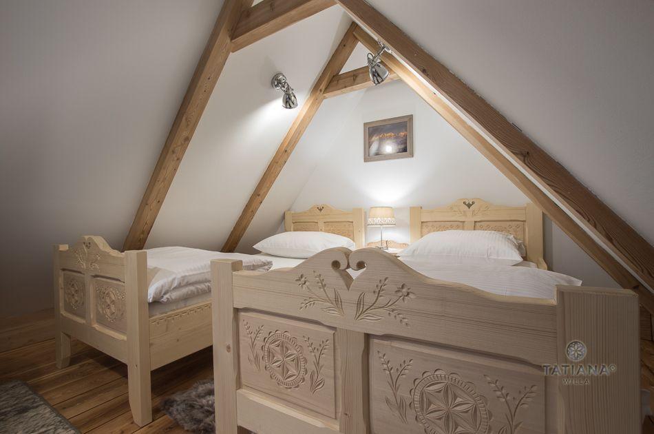 Apartament 9 Tatiana Premium Zakopane drewniane łóżka
