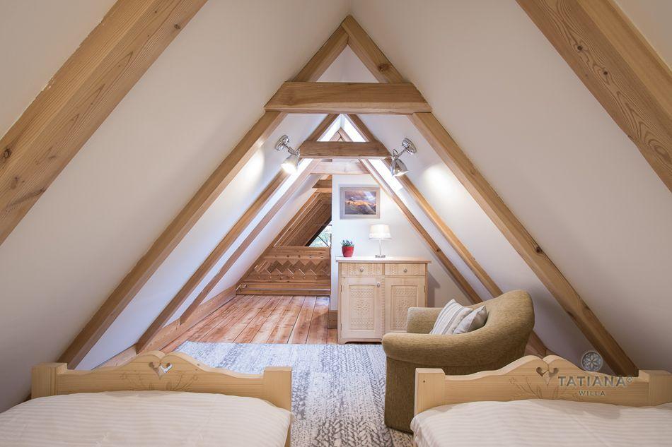 Apartament 9 Tatiana Premium Zakopane sypialnia na poddaszu