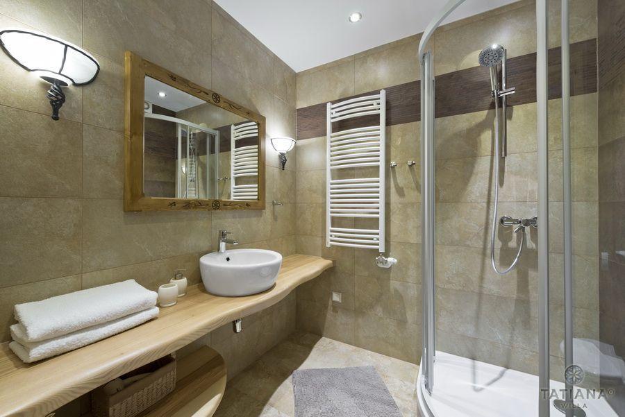 Apartament 10 Willa Tatiana II Zakopane łazienka z kamienia
