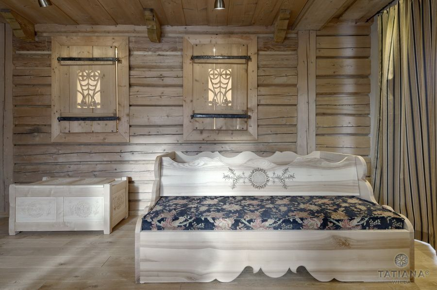 Apartament 14 Willa Tatiana II Zakopane drewniany salon
