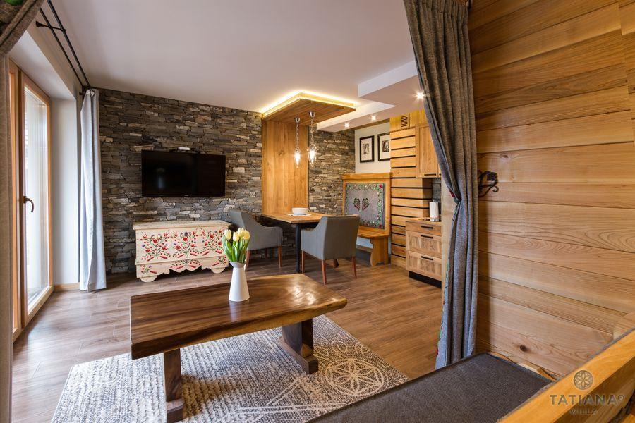 Apartament Czeresniowy Willa Tatiana boutique drewniane wnętrze