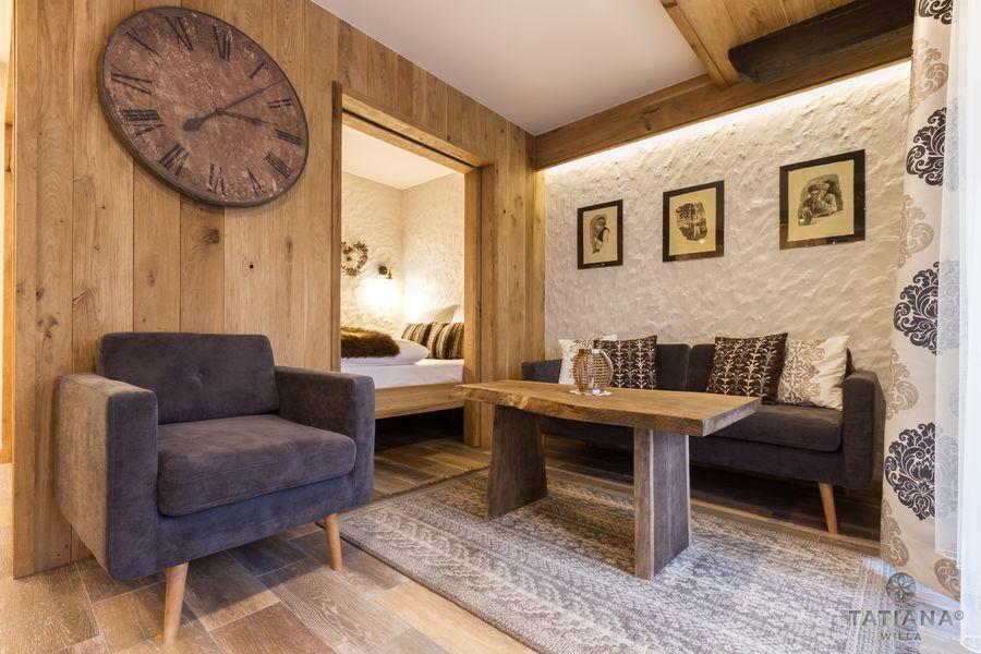 Apartament Debowy Willa Tatiana boutique drewniane wnętrze