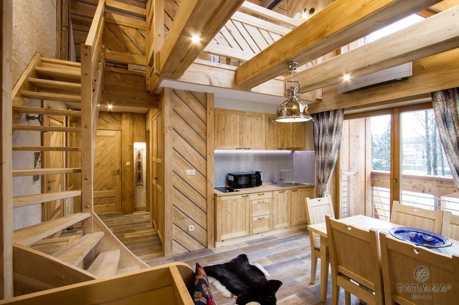 Apartament Smerkowy Willa Tatiana boutique drewniane wnętrze