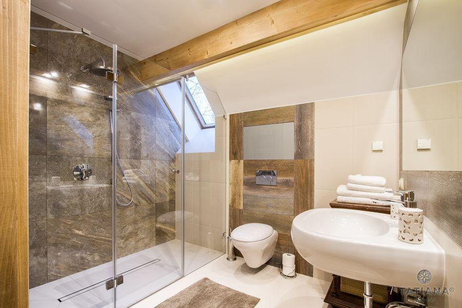Apartament Smerkowy Willa Tatiana boutique łazienka z kamieniem