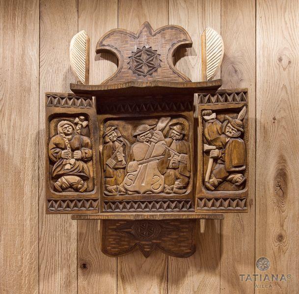 Willa Tatiana boutique rzeźba góralska w drewnie